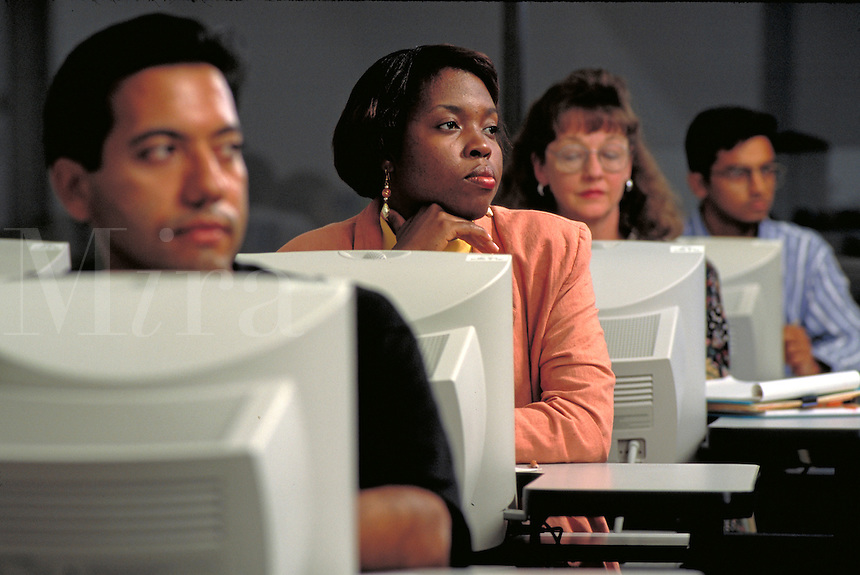 multiethnic students at computers