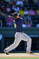 Second baseman Vinny Siena (9) of the Columbia Fireflies bats in a game against the Greenville Drive on Sunday, April 24, 2016, at Fluor Field at the West End in Greenville, South Carolina. Greenville won, 5-1. (Tom Priddy/Four Seam Images)