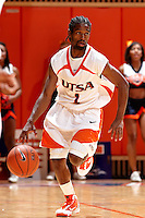 SAN ANTONIO , TX - NOVEMBER 18, 2009: The East Central University Tigers vs. The University of Texas At San Antonio Roadrunners Men's Basketball at the UTSA Convocation Center. (Photo by Jeff Huehn)