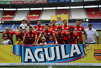 BARRANQUIILLA -COLOMBIA-09-08-2015. Jugadores de Uniauntónoma posan para una foto previo al encuentro con Envigado FC por la fecha 5 de la Liga Aguila II 2015 jugado en el estadio Metropolitano de la ciudad de Barranquilla./ Players of Uniautonoma pose to a photo prior the match against Envigado FC for the 5th date of the Aguila League II 2015 played at Metropolitano stadium in Barranquilla city.  Photo: VizzorImage/ Alfonso Cervantes /