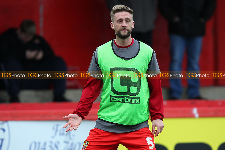 Fraser Franks of Stevenage during Stevenage vs Northampton Town, Sky Bet League 2 Football at the Lamex Stadium on 19th March 2016