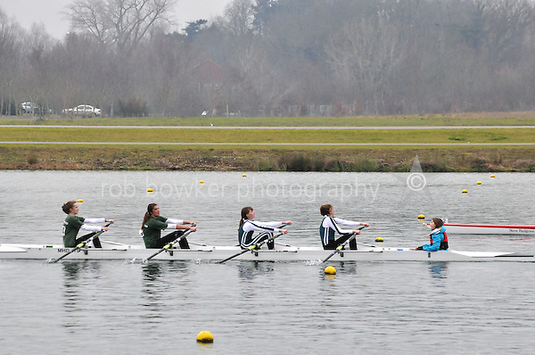 544 MaidenheadRC W.J13A.4x+..Marlow Regatta Committee Thames Valley Trial Head. 1900m at Dorney Lake/Eton College Rowing Centre, Dorney, Buckinghamshire. Sunday 29 January 2012. Run over three divisions.