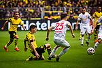11.05.2019, Signal Iduna Park, Dortmund, GER, 1.FBL, Borussia Dortmund vs Fortuna Düsseldorf, DFL REGULATIONS PROHIBIT ANY USE OF PHOTOGRAPHS AS IMAGE SEQUENCES AND/OR QUASI-VIDEO<br /> <br /> im Bild | picture shows:<br /> Christian Pulisic (Borussia Dortmund #22) spielt den Pass, <br /> <br /> Foto © nordphoto / Rauch