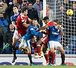 Andrew Considine heads in a goal for Aberdeen
