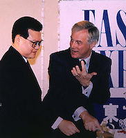 C.K. MA: ORIENTAL PRESS GROUP: HONG KONG:<br /> <br /> C.K. Ma with Chris Patten during the 25th anniversary of the ODN group.