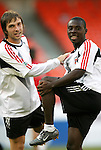 8 May 2004: Bobby Convey (left) and Freddy Adu (right). DC United tied the Columbus Crew 1-1 at RFK Stadium in Washington, DC during a regular season Major League Soccer game..