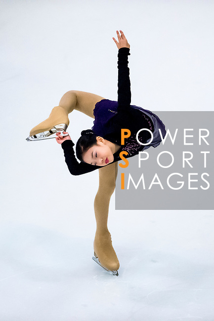 Amy Shao Ning Yang competes during the Asian Junior Figure Skating Challenge 2015 on October 07, 2015 at the Festival Walk Mall in Hong Kong, China. Photo by Aitor Alcalde/ Power Sport Images
