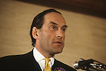 """Thorpe works for us."" Jeremy Thorpe with wife Marion at his adoption meeting for his mid Devon constituency 1979. He lost  his liberal parliamentary seat. England."