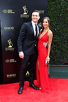 PASADENA - APR 29: Daniel Goddard, Christel Khalil at the 45th Daytime Emmy Awards Gala at the Pasadena Civic Center on April 29, 2018 in Pasadena, California