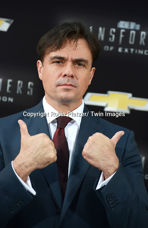 """Mark Ryan attends the US Premiere of """"Transformers: Age of Extinction"""" on June 25, 2014 at The Ziegfeld Theatre in New York City, New York, USA."""
