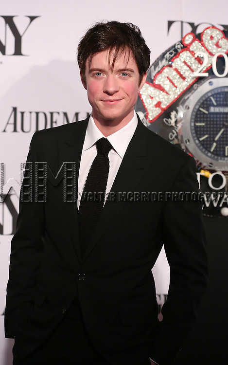 Matthew James Thomas  arriving at the 67th Annual Tony Awards held at Radio City Music Hall in New York City on June 9, 2013