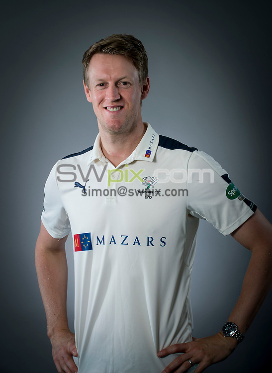 Picture By Allan McKenzie/SWpix.com - 15/04/16 - Cricket - Yorkshire CCC Media Day - Yorkshire County Cricket Club - Headingley, Leeds, England - Steve Patterson.