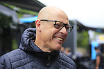 Sir Dave Brailsford Team Sky before Stage 1, a 14km individual time trial around Dusseldorf, of the 104th edition of the Tour de France 2017, Dusseldorf, Germany. 1st July 2017.<br /> Picture: Eoin Clarke | Cyclefile<br /> <br /> <br /> All photos usage must carry mandatory copyright credit (&copy; Cyclefile | Eoin Clarke)