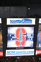 16 December 2006: The scoreboard during Stanford's 30-27, 26-30, 28-30, 27-30 loss against the Nebraska Huskers in the 2006 NCAA Division I Women's Volleyball Final Four Championship match at the Qwest Center in Omaha, NE.