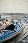Kayak detail at the Riverplace Marina, Portland, Oregon