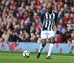 Allan Nyom of West Bromwich Albion during the premier league match at the Old Trafford Stadium, Manchester. Picture date 15th April 2018. Picture credit should read: Simon Bellis/Sportimage