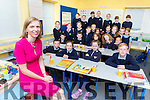 Emer Nelligan the new Principal of Scoil Ide, Curranes NS Castleisland settleing in with her class on Tuesday