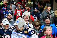 February 4, 2015 - Boston, Massachusetts, U.S. - Fans line the   parade route in Boston to celebrate the New England Patriots victory over the Seattle Seahawks in Super Bowl XLIX. Eric Canha/CSM