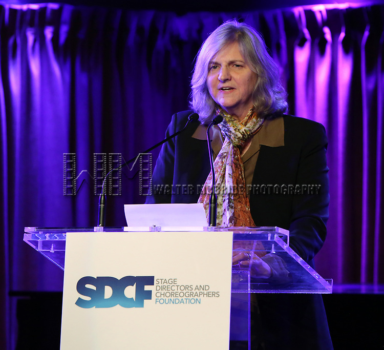 Mary Robinson on stage during the Second Annual SDCF Awards, A celebration of Excellence in Directing and Choreography, at the Green Room 42 on November 11, 2018 in New York City.