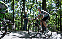 domestique &quot;par excellence&quot; Iljo Keisse (BEL/Etixx-QuickStep) as one of the last guys up the Monte Ologno (1168m)<br /> <br /> Giro d'Italia 2015<br /> stage 18: Melide (SUI) - Verbania (170km)