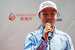 Ziyi Wang of China attends the press conference ahead of the Hyundai China Ladies Open 2014 on December 10 2014 at Mission Hills Shenzhen, in Shenzhen, China. Photo by Xaume Olleros / Power Sport Images