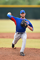 Chicago Cubs pitcher Tanner Griggs (80) during an Instructional League intersquad game on October 9, 2014 at Cubs Park Complex in Mesa, Arizona.  (Mike Janes/Four Seam Images)
