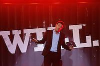 SÃO PAULO, SP, 04.05.2015 - FUTEBOL-SÃO PAULO - O ator Rodrigo Lombadi durante a apresentação do novo uniforme do  São Paulo Futebol Clube com patrocinio da empresa de artigos esportivos Under Armour  no Estádio do Morumbi na noite desta segunda-feira, 04. (Foto: Adriana Spaca / Brazil Photo Press)