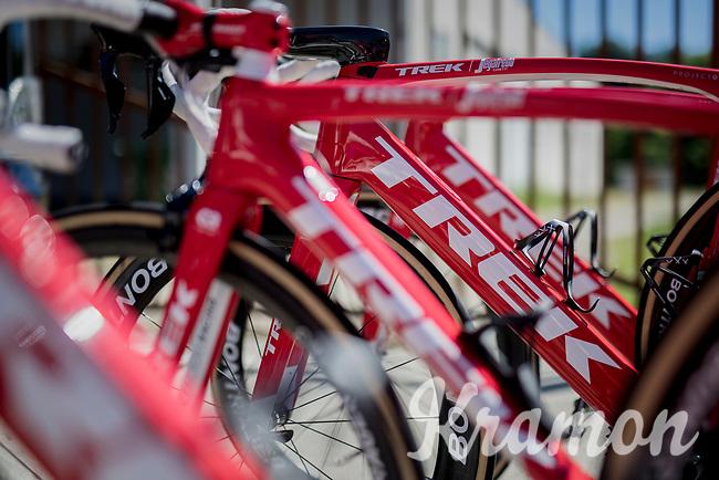 Trek-Segafredo team bikes ready for Stage 15: Valdengo &rsaquo; Bergamo (199km)<br /> <br /> 100th Giro d'Italia 2017