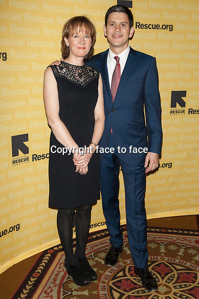 NEW YORK, NY - NOVEMBER 6, 2013: Louise Miliband and David Miliband attend the 2013 International Rescue Committee Freedom Award Benefit at The Waldorf Astoria on November 6, 2013 in New York City. <br /> Credit: MediaPunch/face to face<br /> - Germany, Austria, Switzerland, Eastern Europe, Australia, UK, USA, Taiwan, Singapore, China, Malaysia, Thailand, Sweden, Estonia, Latvia and Lithuania rights only -
