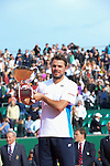 Stanislaus Wawrinka (SUI) defeats Roger Federer (SUI) 4-6, 7-6(5), 6-2  to win Final