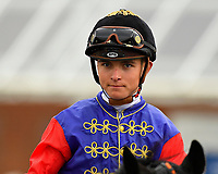 Jockey Thore Hammer Hansen during Racing at Newbury Racecourse on 12th April 2019