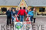 L-R John Sheehy (Perative Care, Helen Brosnan, Ted Moynihan (chairman of Kerry Hospice fundation), Noel Brosnan (organiser of Ring of Kerry Honda 50 challenge), Pat Doolan (Kerry Hospice Fundation), Mary Shanahan (Kerry Hospice Fundation) and Lisa Brosnan at the launch of Ring of Kerry Honda 50 challenge in the Old Killarney Inn last Friday.