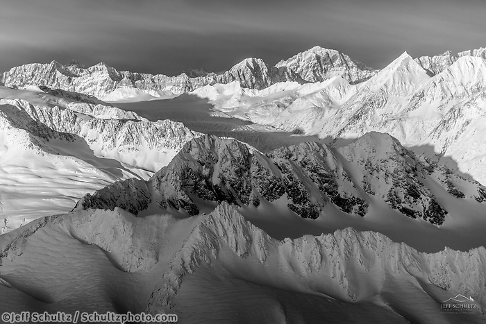 David Young Private Photo Tour/Workshop.  Winter, January Alaska  --- Knik Glacier, Chugach Mountains, Prince William Sound<br /> <br /> Photo by Jeff Schultz/SchultzPhoto.com  (C) 2017  ALL RIGHTS RESERVED