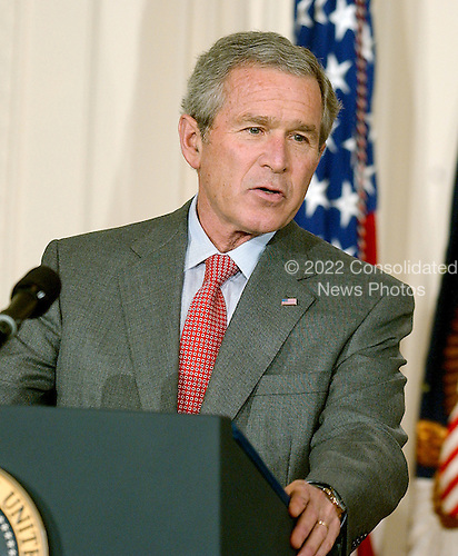 Washington, D.C. - February 1, 2006 -- United States President George W. Bush makes remarks prior to Judge Samuel A. Alito taking his oath as Associate Justice of the United States Supreme Court in Washington, D.C. on February 1, 2006 during a ceremony in the East Room of the White House..Credit: Ron Sachs / CNP