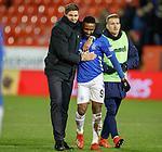 06.02.2019: Aberdeen v Rangers: Steven Gerrard and Jermain Defoe