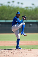 Kansas City Royals relief pitcher Angel Zerpa (49) delivers a pitch during an Instructional League game against the Chicago White Sox at Camelback Ranch on September 25, 2018 in Glendale, Arizona. (Zachary Lucy/Four Seam Images)