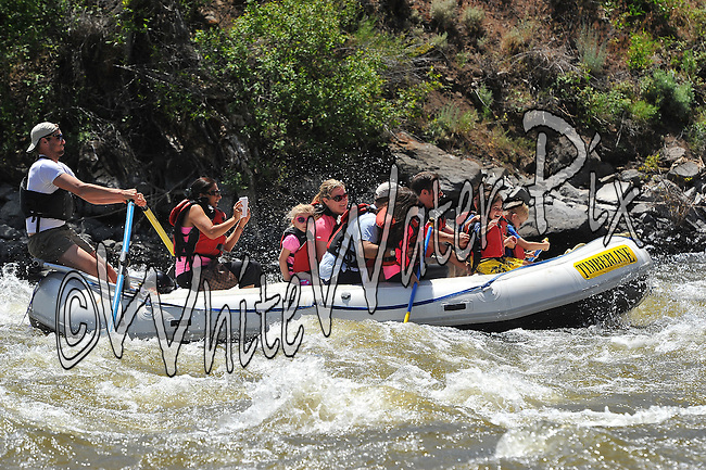 Timberline Tours crashing Cable Rapid while floating the Upper Colorado River from Rancho Del Rio to State Bridge on the morning of June 23, 2014.
