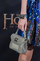 Marina Jamieson complements at The Hobbit premiere in Madrid