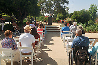 "Dedication of ""Lorelee's"" Legacy Garden with Axel Steuer '65 and Loreli Steuer, their family and other guests on Saturday, July 20, 2019 next to the Hameetman Science Center on the campus of Occidental College.<br /> <br /> (Photo by John Valenzuela, Freelance Photographer)"