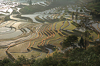 The Yuanyang Rice Terraces are located in southern Yunnan province and were first constructed by the Hani ethnic group some 2000 years ago.
