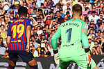 53e Trofeu Joan Gamper.<br /> FC Barcelona vs Club Atletico Boca Juniors: 3-0.<br /> Munir El Haddadi &amp; Marc-Andre Ter Stegen.