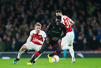 Rennes Ismaila Sarr and Arsenal's Nacho Monreal during the UEFA Europa League match between Arsenal and Rennes at the Emirates Stadium, London, England on 14 March 2019. Photo by Andrew Aleksiejczuk / PRiME Media Images.