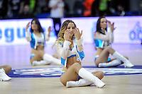 Real Madrid´s chearleaders dancing during 2014-15 Euroleague match between Real Madrid and Crvena Zvezda Telekom Belgrade at Palacio de los Deportes stadium in Madrid, Spain. February 26, 2015. (ALTERPHOTOS/Luis Fernandez) /NORTEphoto.com