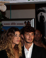"La showgirl argentina Belen Rodriguez arriva insieme al fidanzato, il ballerino Stefano De Martino, a destra, all'anteprima del film di animazione ""Gladiatori di Roma"" a Roma, 13 ottobre 2012..Argentine showgirl Belen Rodriguez  arrives with her boyfriend, Italian dancer Stefano De Martino, right, at the premiere of the animation movie ""Not born to be Gladiators"" in Rome, 13 October 2012..UPDATE IMAGES PRESS/Riccardo De Luca"