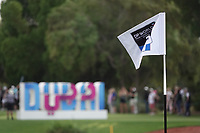 Pin flag during the first round of the DP World Championship, Earth Course, Jumeirah Golf Estates, Dubai, UAE. 21/11/2019<br /> Picture: Golffile | Phil INGLIS<br /> <br /> <br /> All photo usage must carry mandatory copyright credit (© Golffile | Phil INGLIS)