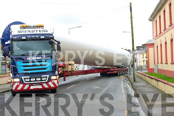 Wind Turbine being transported through north Kerry