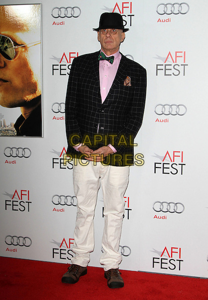 """James Ellroy.AFI Fest 2011  Premiere Of """"Rampart"""" Held At Grauman's Chinese Theatre, Hollywood, California, USA..November 5th, 2011.full length black jacket check white trousers hat .CAP/ADM/KB.©Kevan Brooks/AdMedia/Capital Pictures."""