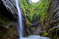 Viti Levu Island, Fiji,  River Canyon with waterfalls and rainforest, Upper Navua Conservation Area