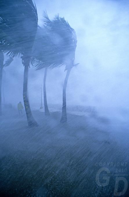Typhoon in Manila, Philippines