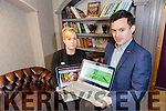 Gearoid Kearney with Meadowlands Manager Lorraine Lynch, Launch the Autism Summit at the Meadowlands Hotel on 10th February